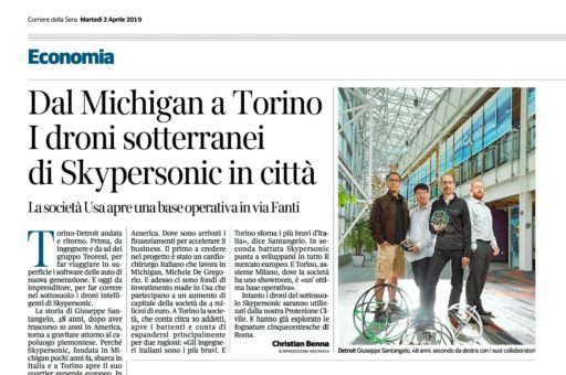 "Skypersonic featured on ""Corriere della Sera"""